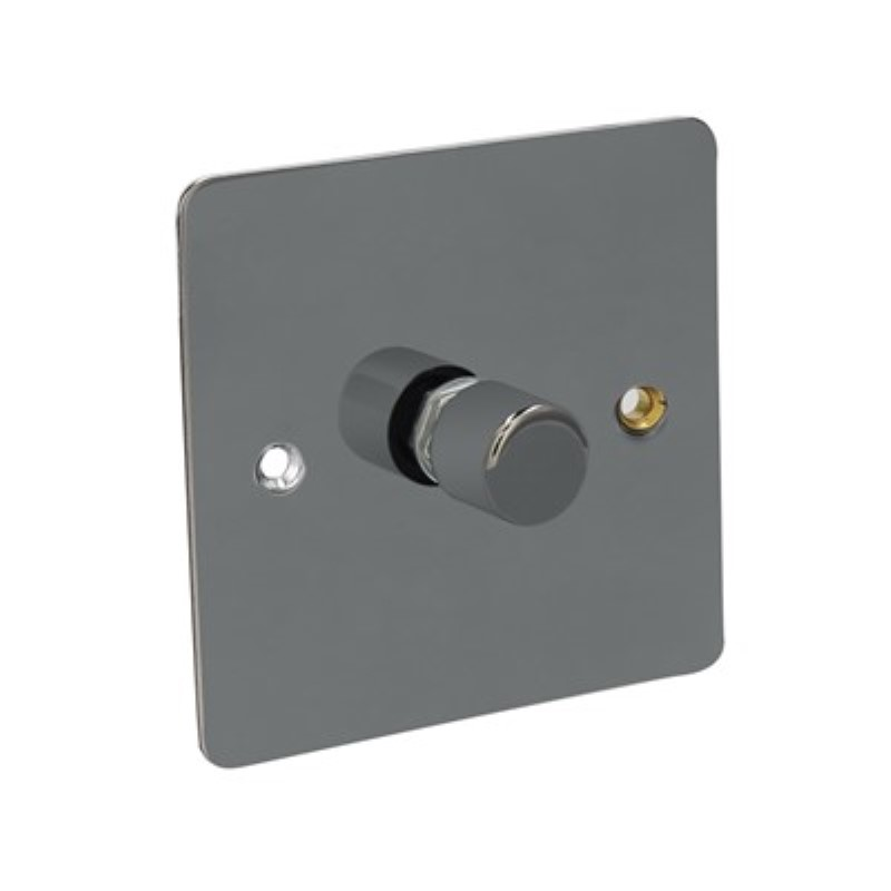 Flat Plate 400W 1 Gang 2 Way Dimmer Switch *Black Nickel **