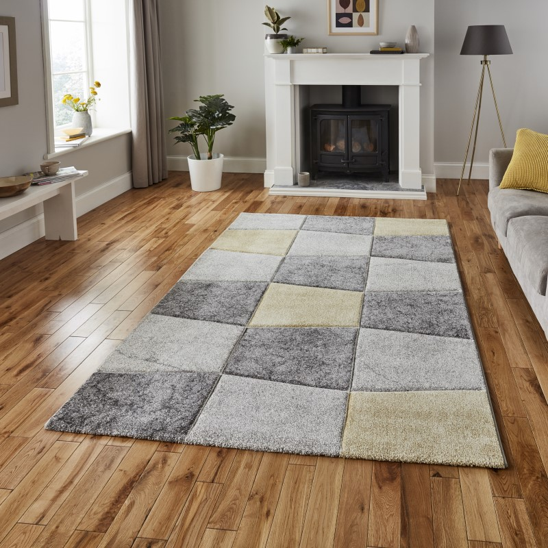 Brent Rug Grey/Yellow