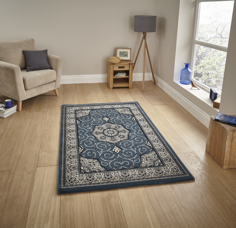 Hatton Rug Dark Blue
