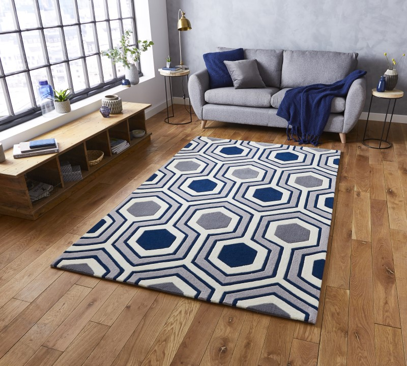 High Gate Rug Grey/Navy