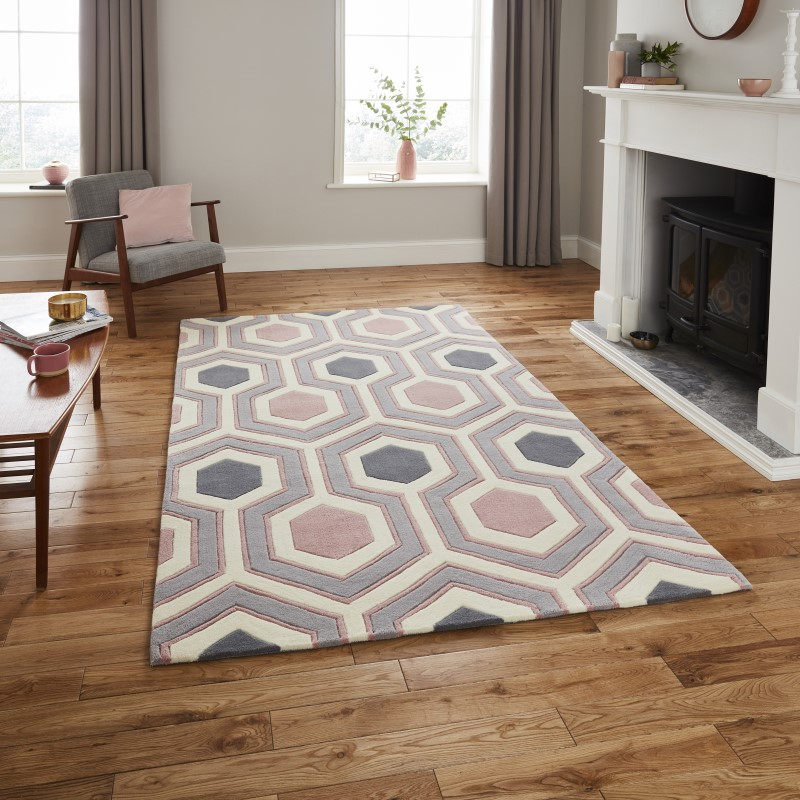 High Gate Rug Grey/Rose