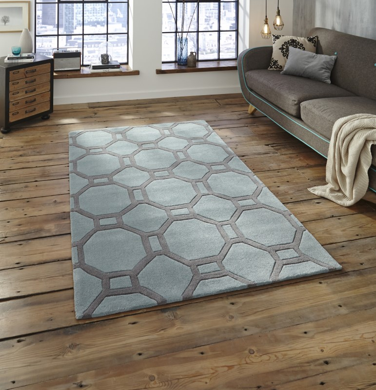 High Gate Rug Blue/Grey