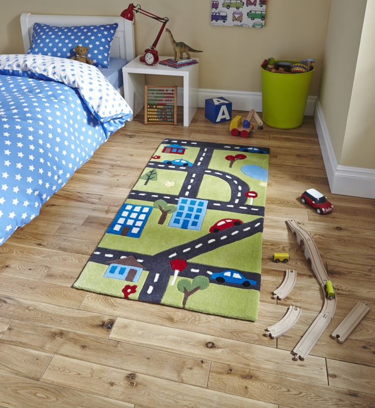 High Gate Kids Rug Green