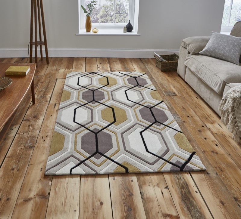 High Gate Rug Beige/Yellow