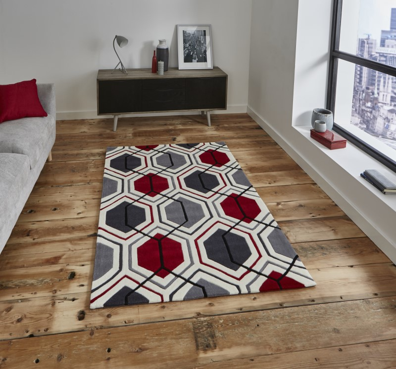 High Gate Rug Cream/Red