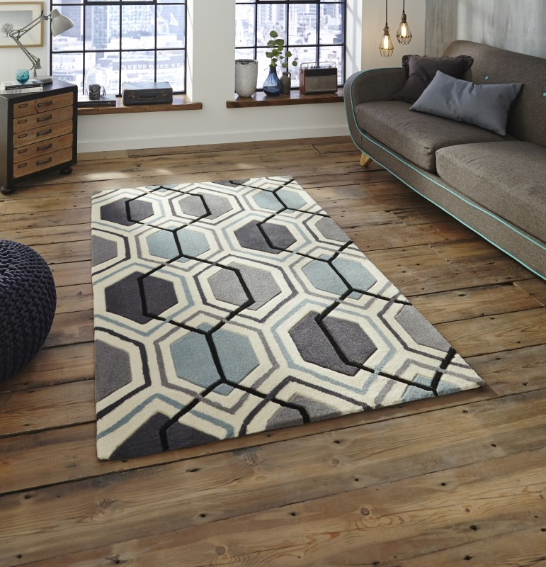 High Gate Rug Grey/Blue