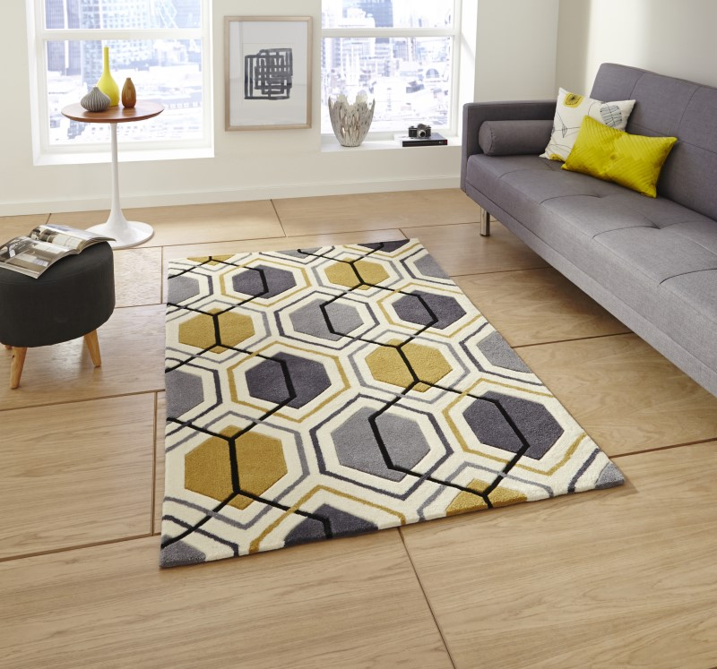 High Gate Rug Grey/Yellow