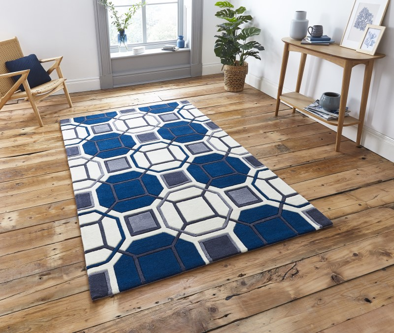 High Gate Rug Ivory/Navy
