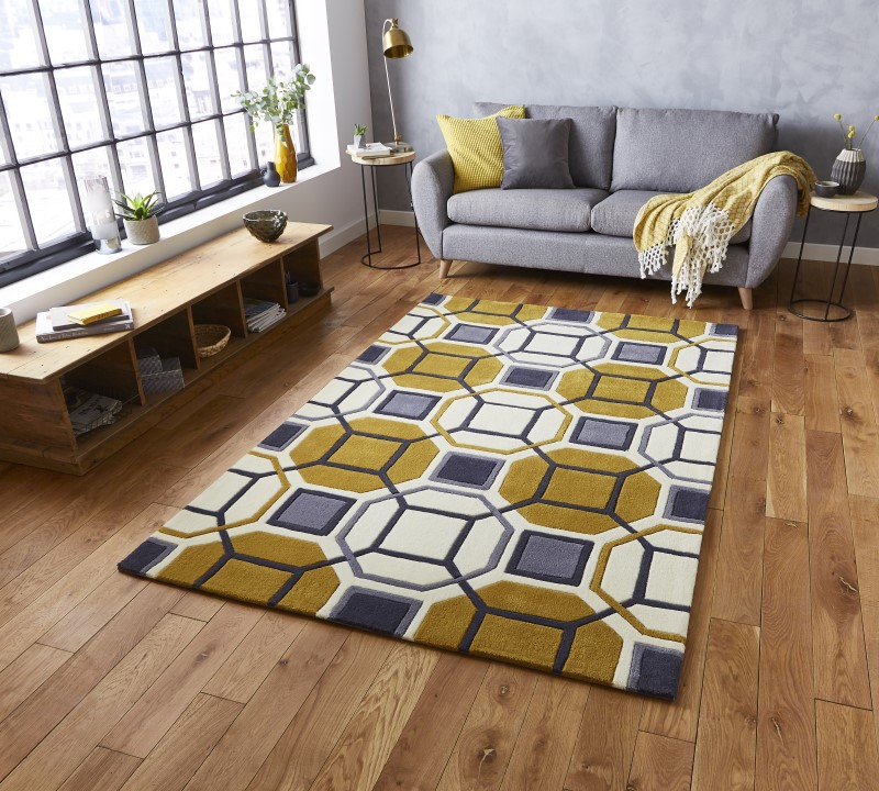 High Gate Rug Ivory/Yellow