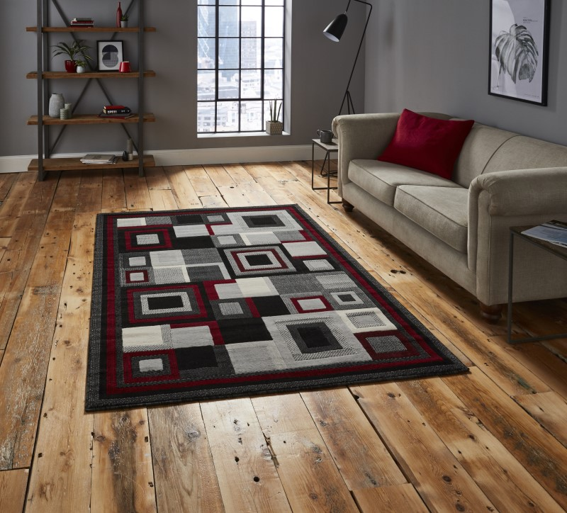 Hounslow Rug Black/Red