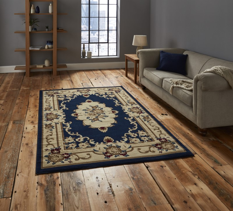 Maida Rug Dark Blue