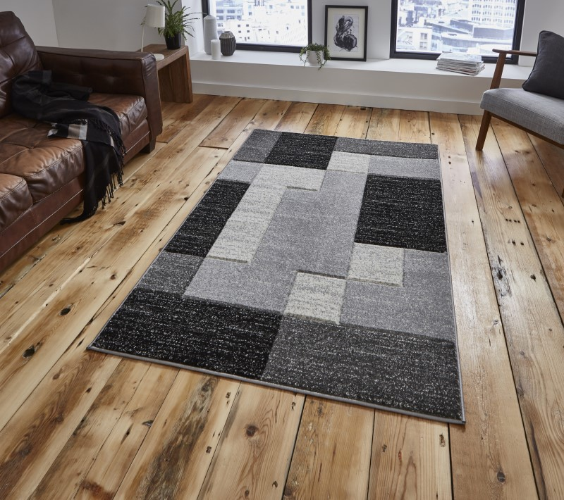 Mansion Rug Black