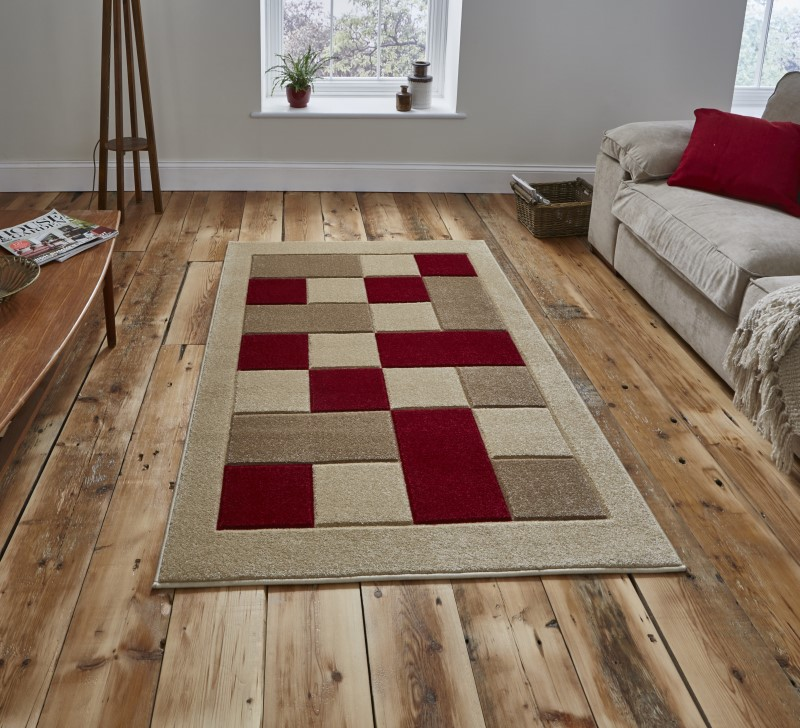 Mansion Rug Beige/Red