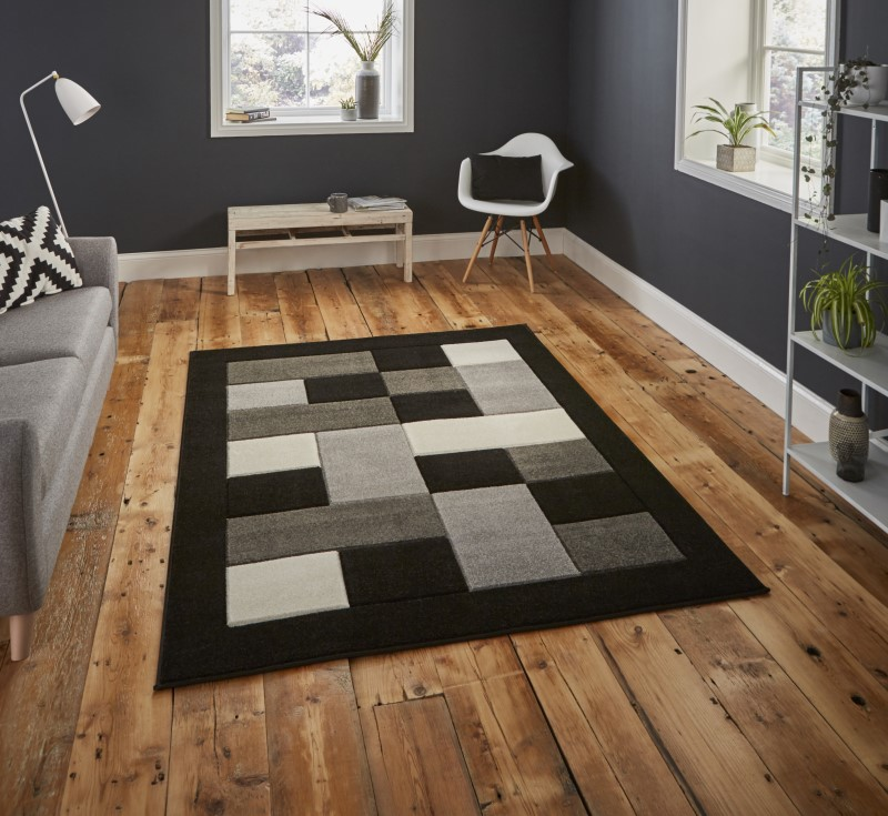 Mansion Rug Black/Grey