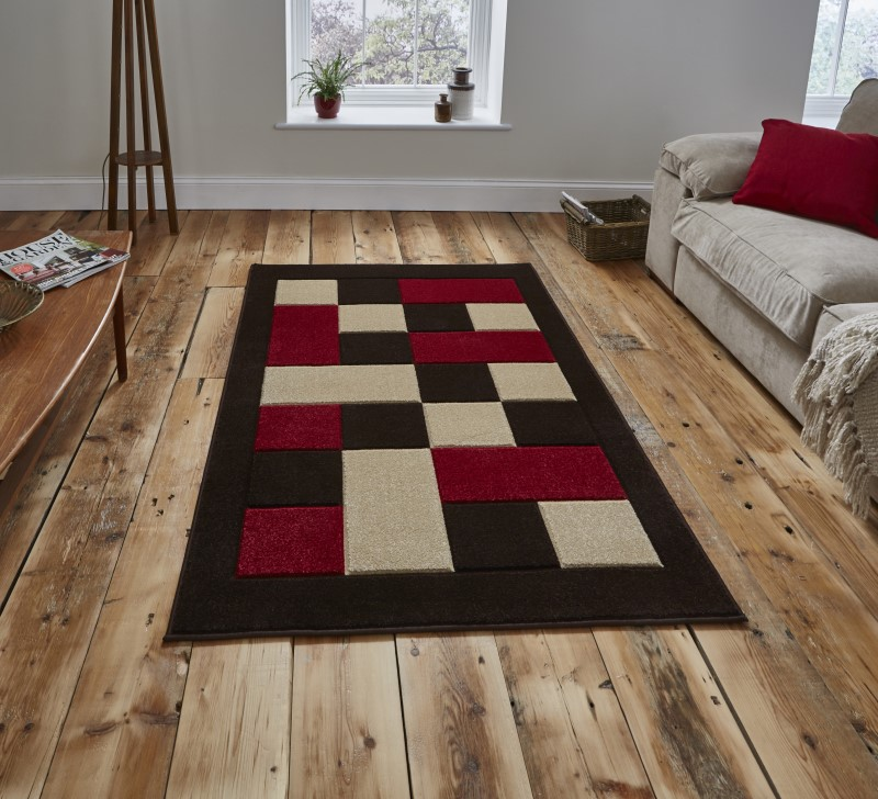 Mansion Rug Brown/Red