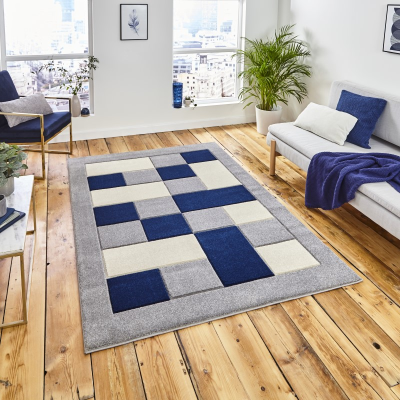 Mansion Rug Grey/Navy