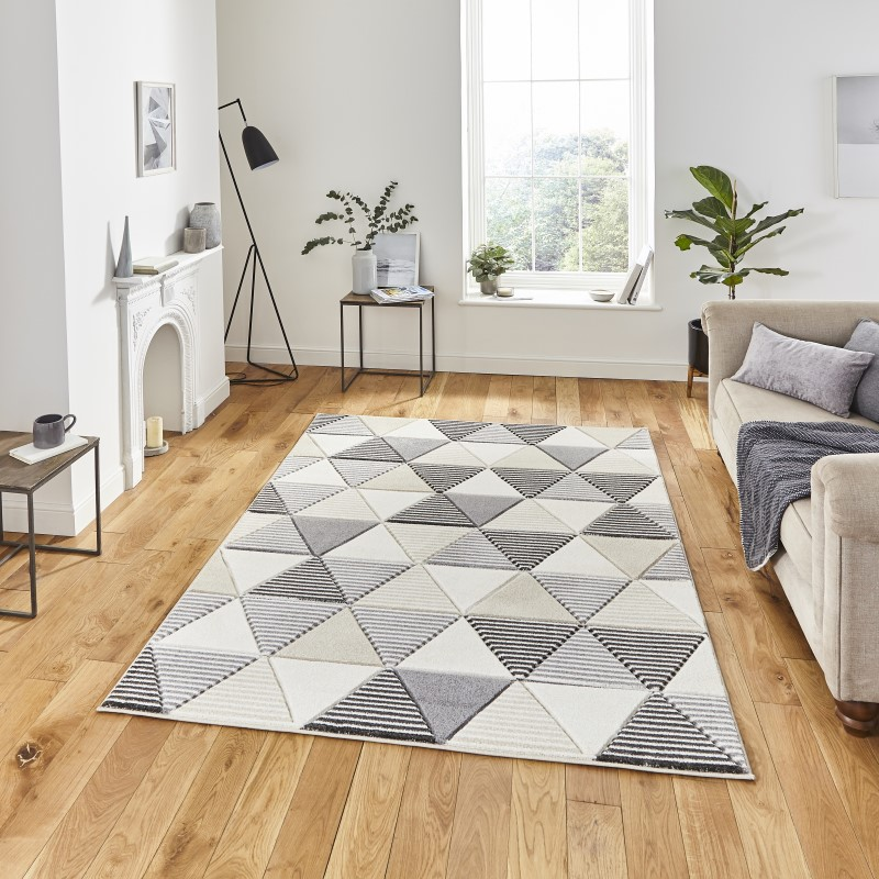 Mansion Rug Grey/Beige