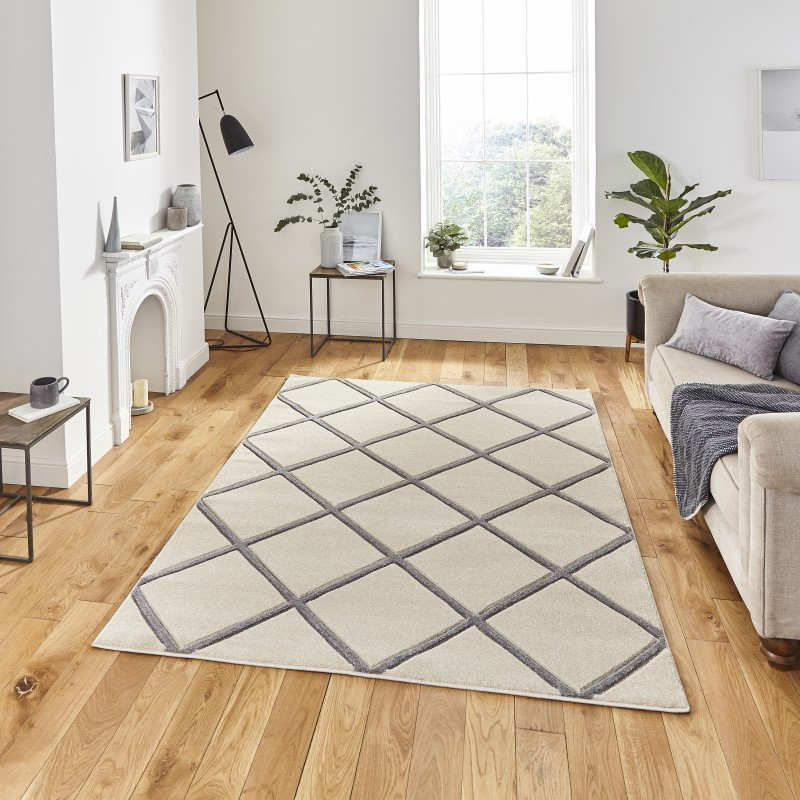 Mansion Rug Cream/Grey