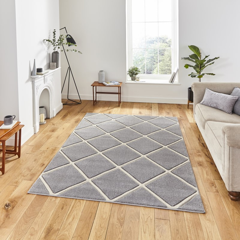 Mansion Rug Grey/Cream